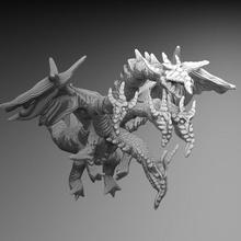 longo focinho encabeçado Dragão Dragão hidra serpente Wyvern cabeças encabeçado multihead