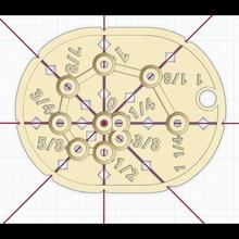 optisch Center schlagen Loch Lineal 8d Nägel Vorlage leiten 3d druckbar 8d Nagel Loch Marker Loch Lineal optisch Center schlagen Abstand