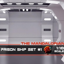 mandaloriano rebelde prisión Embarcacion 1 pasillo 1 18 escala mesa juegos estrella guerra Galaxias guerras pasillo licuadora mandaloriano bandai prisión massagress
