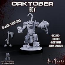 ork tober boy jack lantern stikkbomb tabletop 40k orc ork warhammer miniature tabletop wargame proxy proxie