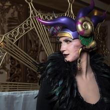sorceress edea kramer - final fantasy 8 clock fantasy helmet cosplay cosplayer final 8  sorceress kramer viii edea ffviii ff8