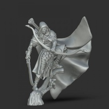 wood elf ranger - sylberil 35 mm scale tabletop elf fantasy figurine game rpg character hunter miniature boardgame tabletop ranger wargame lordofthering d&d woodelf bowman chracter legolas