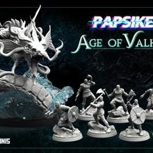 Valhalla conjunto tampo mesa fantasia mar viking norte vikings dnd serpente banda guerra nórdicos