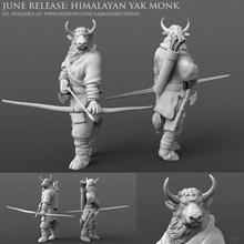 himalayen yak moine table animal créature mini moine monstre taureau miniature table minotaure dnd donjons dragons yak labradorite loup yakfolk Shaolin moine himalayen yak