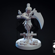 calabaza Jack mesa cuervo épico fantasía juegos Víspera Santos horror monstruo calabaza cuervo rpg escalofriante creativo miniatura mesa guadaña espantapájaros dnd obsesionado pionero brasero