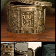 egípcio bugiganga caixa loja caixa recipiente decorativo Egito egípcio presente jóias tampa Panela armazenamento joalheria bugiganga gravado heiroglypics