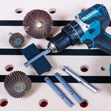 poor man's flap wheel diy tool wheel sanding flap sanding tool flapwheel sanding paper