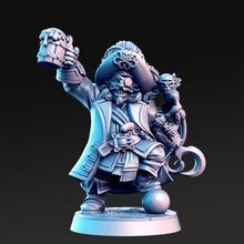Madolff Masculin nain pirate capitaine 32mm dnd table Bière crochet épée nain dnd rnestudio