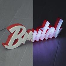 guidato tendone brutale guidato lettere luce striscia neon luminoso cartello brutale
