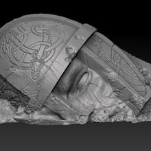 caído nórdico estátua ruínas cabeça pre supported terreno viking lotr nórdico tampo mesa d d ruínas cenário saga Ragnarok