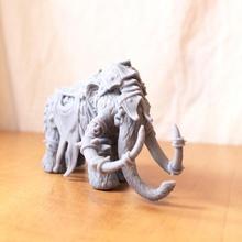 war mammoth tabletop stl armor dinosaur fantasy rpg miniature 3dprint elephant dungeonsanddragons tabletop mammoth dnd tusk ttrpg grimdark resing