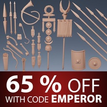 roman weapons & gear education army roman shield spear weapon gear bow gladius bits pouches banners kitbashing standards