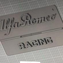 esparto Romeo logo artilugio logo pared Alfa Romeo esparto Romeo logo colgar