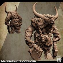 suporte livre bruto Minotauro miniatura Mannarak chifre sangue tampo mesa criatura fantasia gigante rei monstro vilão inimigo tampo mesa Minotauro masmorra dnd