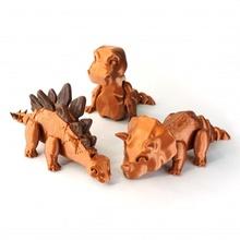 dino paket mağaza hayvan Şirin dino Dinozor stegosaurus t rex esnek mafsallı Triceratops esnek Rex