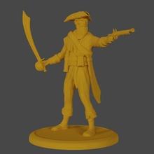pirate capitaine table chef pirate pistolet marin épée capitaine