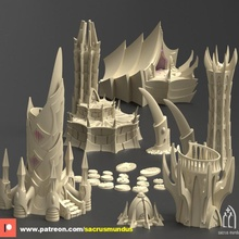 dark city irazar 3d printing designs bundle alien dark eldar terrain scenery wargames tabletop 40k building dark elf fantasy star tower wargames warhammer rings lord evil wars elves legion mordor scenery eldar 40000 drukhari