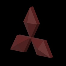 Mitsubishi logotipo ventilador arte logotipo automóvel carros Mitsubishi