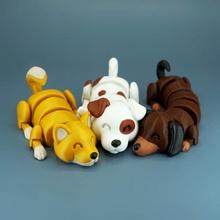 tembel köpekler oyuncaklar oyunlar hayvanlar Şirin köpek oyuncak esnek mafsallı tembel baskı yeri esnek köpekler kıpır kıpır tembel köpek Lazydogs