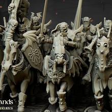vampire chevaliers hauts plateaux miniatures Patreon jouets Jeux Mort vivant vampire guerre marteau guerre table capitaine rois cavalerie jeu guerre musicien 28mm chevaliers compter 32mm Vlad vampires Bannerman