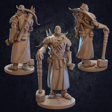 jeremiah ferreiro artífice pré suportado brinquedos jogos ferreiro Dragão dragões masmorras lutador herói humano mini rpg personagem miniatura masculino martelo caçadores besta Vampiro dnd clérigo
