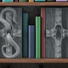 cansız kilitler kitap kitap ayracı göz fantezi korku kilit inek fantastik kütüphane cansız senaryo manzara tentacol dehşet verici