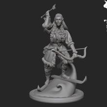 Skadi loja figura deusa cabelo viking inverno mulher neve miniatura arco nórdico céus giganta Skadi