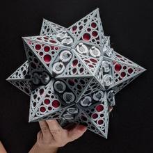 gótico estrella pelota Tienda Navidad pelota decoración gótico colgando estrella estilo árbol Navidad montaje dodecaedro festivo geometría decoración fiesta celebracion estrellado