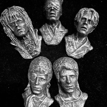 david Bowie coleção Bowie idades wallhangins cabeça fracasso ventilador arte coleção goblin suspensão rei lenda parede pop rock and roll imã geladeira poeira estelar celebridades Bowie David Bowie homem Estrelas Campbell