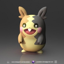 morpeko Pokemon giocattoli Giochi gratuito anime carina Pokemon scultura zbrush Pikachu fan art pokemongo morpeko galar