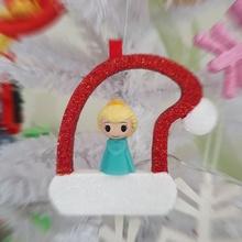 Natal árvore enfeite ooshies decorações papai noel chapéu jardim Natal chapéu crianças decoração presente crianças maravilha papai noel brinquedo árvore natal dc Disney anna congeladas Elsa ooshies