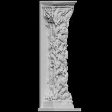 Trumeau Santo marie Iglesia escanear columna Francia Iglesia 3dprintable alivio Trumeau