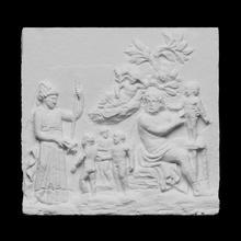 alívio retratando dionisíaco adoração cena Varredura 3d fruta mitologia escultura adoração mármore louvre França culto 3dprinting sátiro alívio fotogrametria Dionísio openglam 3d printable