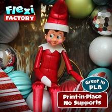 Şirin esnek print in place elf oyuncaklar oyunlar Noel Yazdır elf Noel Baba oyuncak bağlantılar Daniel esnek olası mafsallı bağlantı baskı yeri esnek fabrika yer bağlantı esnek dan Sopala