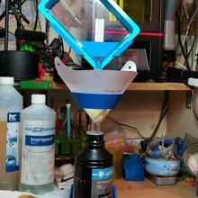 vat drainer al profile-beam based holder tool sla resin drain helper freecad vat photon phrozen resinvat