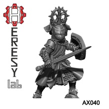 heresylab - ax040 dog knight 2 helmets toys & games dragons dungeons fantasy warhammer warrior d&d adventurer mordheim warband heresylab axia