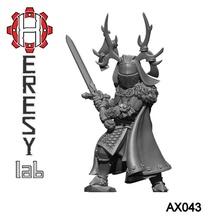 heresylab - ax043 antler knight 2 helmets toys & games dragons dungeons fantasy warhammer warrior d&d adventurer mordheim warband knight heresylab axia