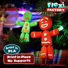 esnek print in place zencefilli çörek adam oyuncaklar oyunlar Noel Yazdır zencefilli çörek adam süs Noel Baba oyuncak bağlantılar Daniel esnek olası mafsallı bağlantı baskı yeri esnek fabrika bağlantı esnek dan