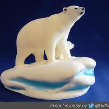 Multimaterial Polar Bär Jungtier Spielzeuge Spiele Bär Schnee Palette Eis Familie Polar Arktis Multimaterial mmu Jungtier Sidnaique