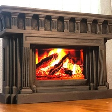 fireplace mobile phones gadgets & electronics christmas holder decoration desk mobile phone phones xmas  fireplace