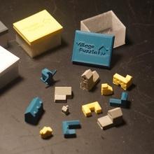 puzzle village jouets Jeux Noël cadeau puzzle vacances anniversaire village Maisons minuscule packing puzzle