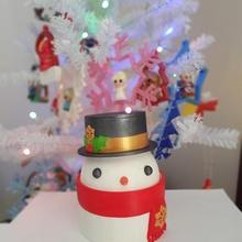 Weihnachten Süßigkeiten Snack Container Schneemann Geschäft Weihnachten Schüssel Süßigkeiten Container Party Schneemann Server Snack Weihnachtsdekorationen Lebensmittelbehälter Servierschüssel