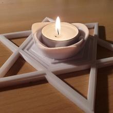 Estrela david chá luz suporte david luz Estrela Chá leve suporte luz azul chá luz chá luz suporte Estrela david