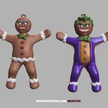 ürkütücü zencefilli çörek süsler tek mmu mağaza Noel zencefilli çörek joker süs Noel ürkütücü Wekster zırhlı