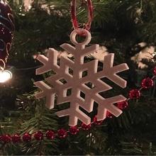 Schneeflocke Ornament Weihnachten Ornament Schneeflocke Schnee