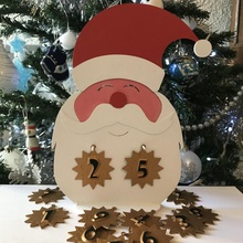 Avvento calendario concorrenza Babbo Natale christmascommunityprint