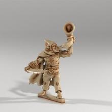 orc voyou capitaine dragons donjons orc école miniature klaxon musicien 28mm mm éclaireur dcc crawl 5e uruk 1e