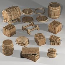 barriles cajas sacos cofres conjunto dragones mazmorras fantasía granja histórico interior medieval tesoro accesorios castillo mesa pub 28mm medio 32mm 25mm dispersión Posada 5e siglos