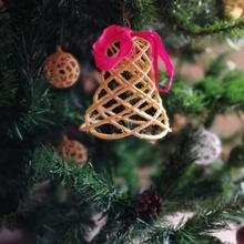 campana Natale albero ispirato albero vita Expo 2016 Natale campana campane design parametrico rosso santa argento albero natale stampato Babbo Natale spirale cavalletta 2016 Expo san christmasdesign