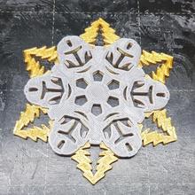 Mandalorianer Schneeflocke Dekoration Weihnachten Dekoration Design einfach i3mk3 Pursa